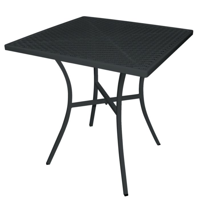 Black Steel Patterned Square Bistro Table 700mm - GG706 - Buy Online at Nisbets