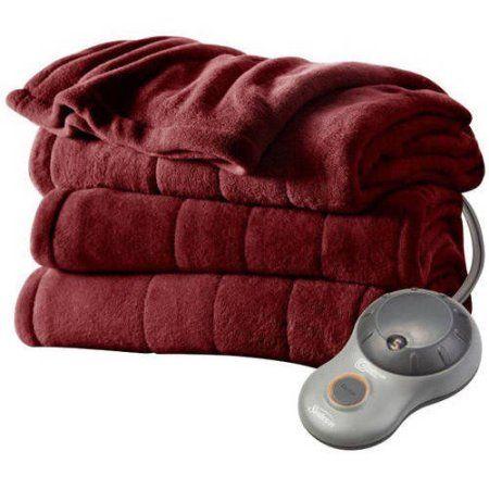 Sunbeam Electric Heated Plush Blanket - Walmart.com