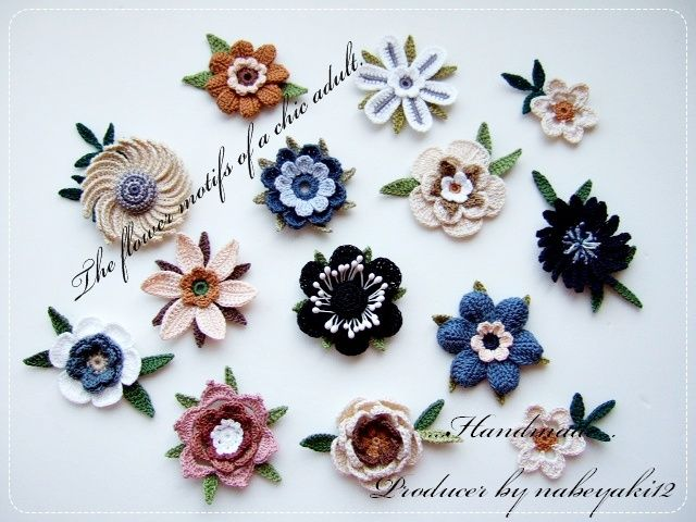 758 Best Crocheted Flowers Images On Pinterest Crocheted