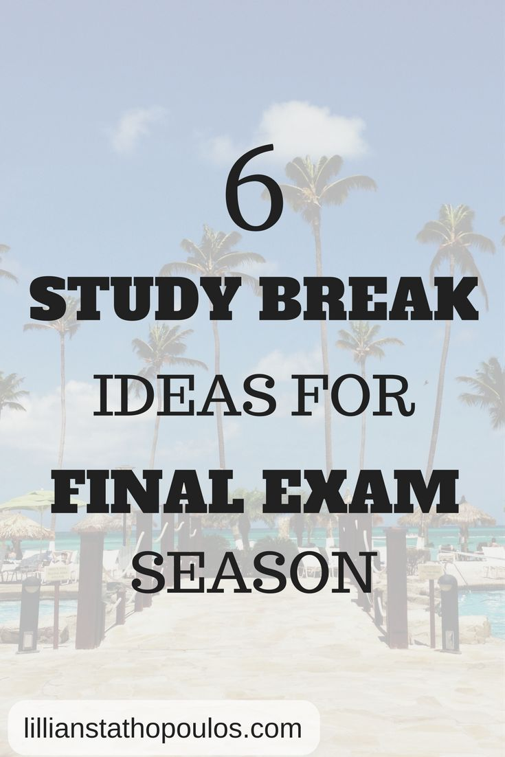 Need a study break from finals? Here are 6 study break ideas to help increase your productivity.