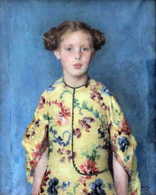 Child Portrait of damsel Louise-Félicité de Stuers -Walter Vaes 1919