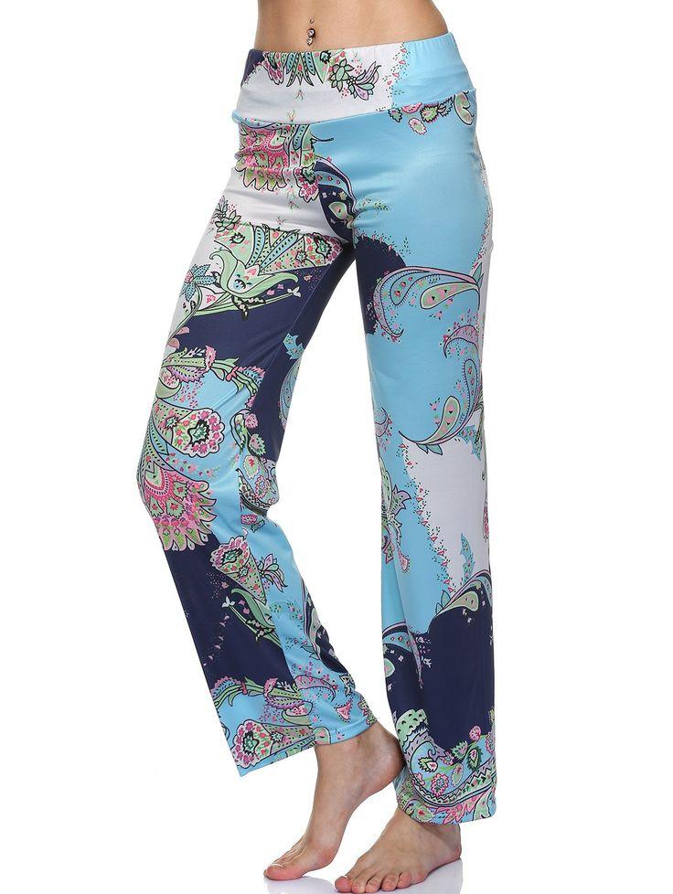 Ethnic Women's Mid Waist Floral Print Exumas Pants #shoes, #jewelry, #women, #men, #hats, #watches, #belts