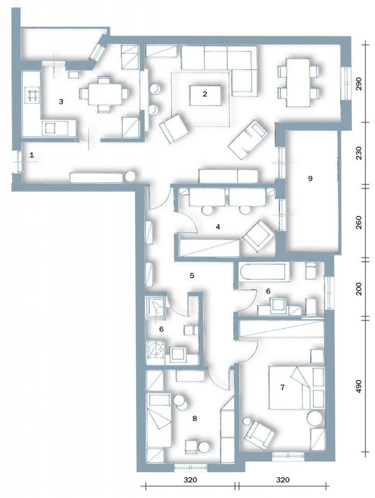 Oltre 25 fantastiche idee su planimetrie dell 39 appartamento for Planimetrie della casa del ranch di un livello