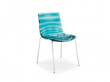 Calligaris L'eau chair - clear aqua with rippling concentric circles. Ohmyearsandwhiskers! Eeeep!