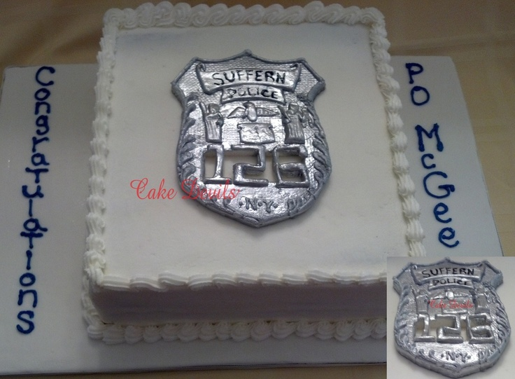 Police Retirement Cake Images : Police Department Retirement Cake Special Occasion Cakes ...