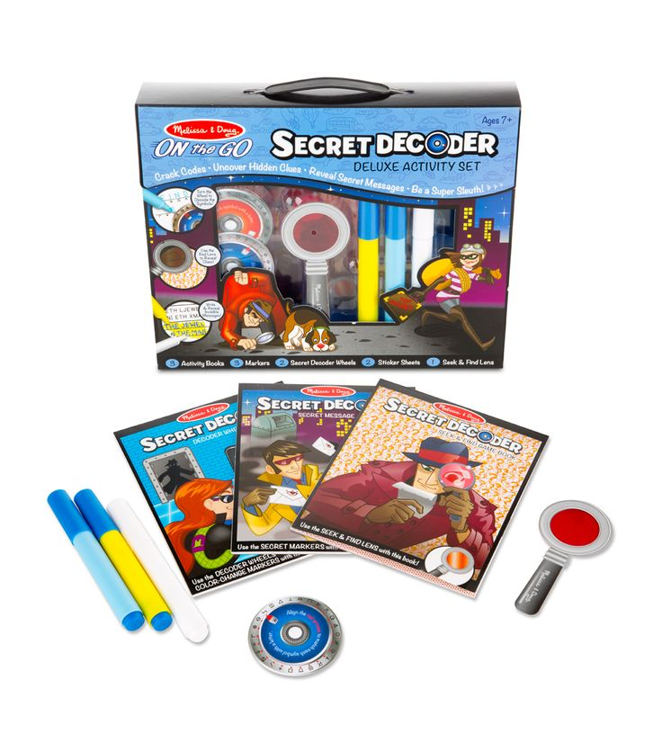 Secret Decoder Deluxe Activity Set: Your kids can crack codes, uncover hidden clues, reveal secret messages, and be a super sleuth with this deluxe kit!