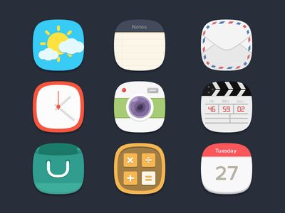Flat Icons / Flat Design / Icons Design / Icons / Pictograms / Signs