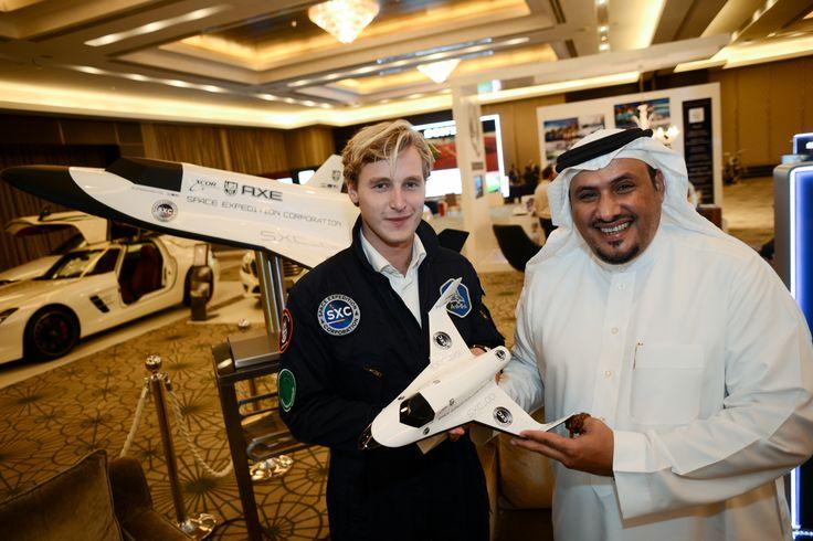 Daniel van der Hijden of Space Expedition Corporation with Ahmad Al Oraij of World Luxury Group