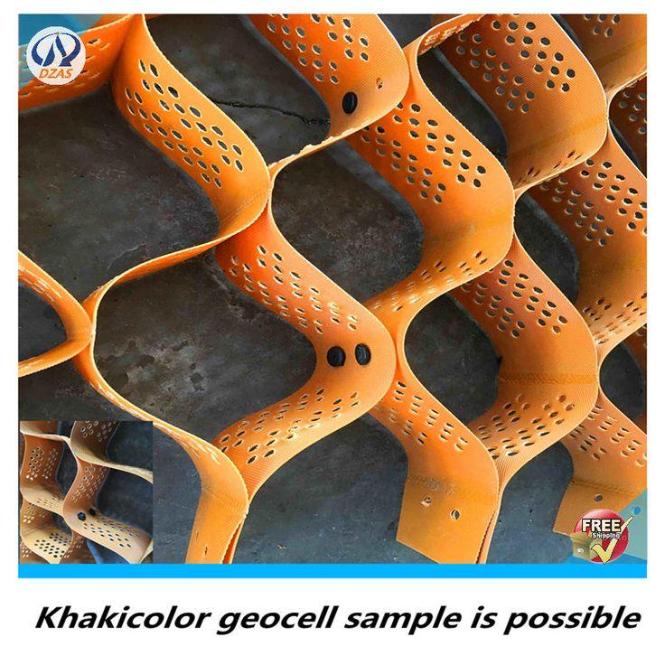 Livraison gratuite échantillon pour Herbe pelouse Geocell utilisé pour renforcement des sols mous HDPE Géocellules plastique geocell