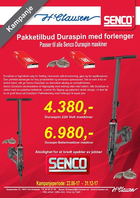 Senco Norge: Duraspin kampanje ut året 2017