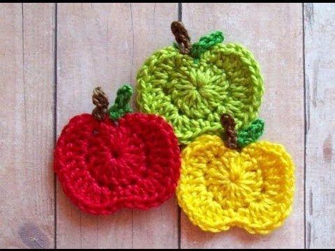 Manzana Tutorial a Crochet Aplicación (Parte 1) por Maricita Colours - YouTube