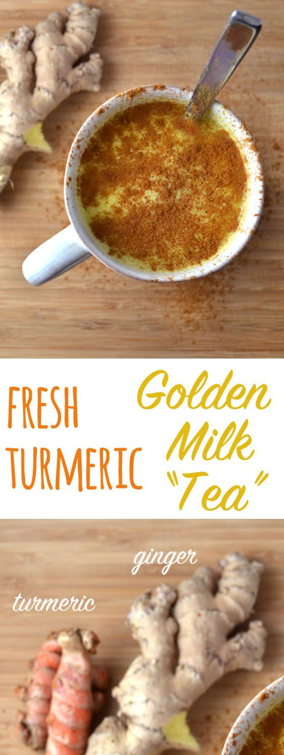 Fresh Turmeric Golden Milk Tea Recipe Golden milk tea