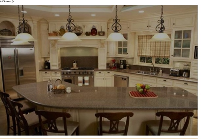 Out table can be an extension of the kitchen island kitchen island