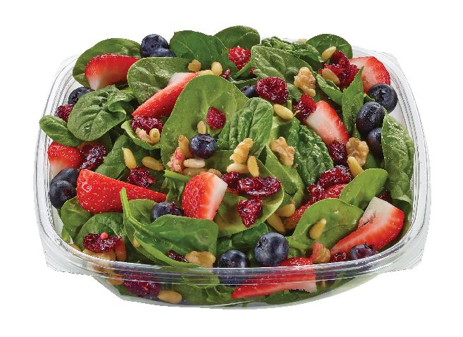 Freshly made Baby Spinach Salad from #YummyMarket