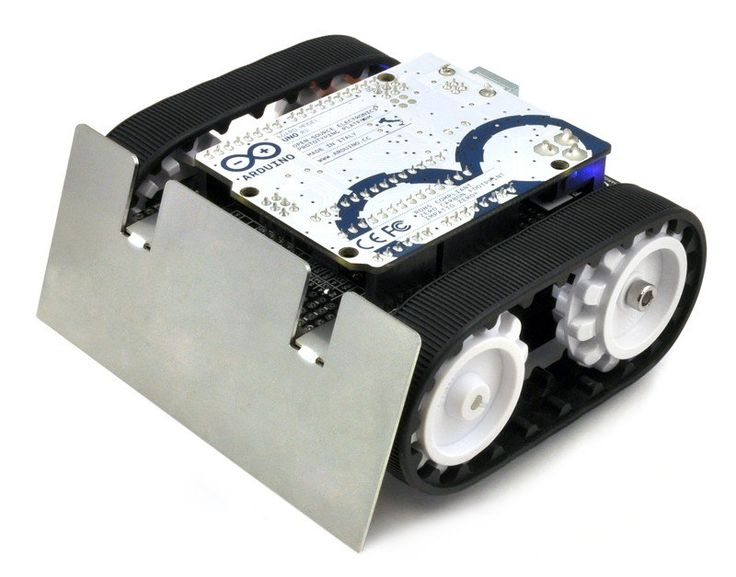 Agile, low-profile tracked robot platform that can really put the power down Get the *Zumo robot for Arduino*
