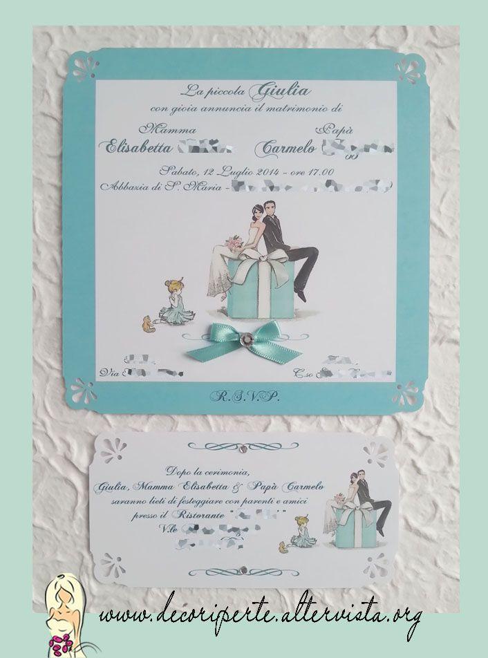 Partecipazioni Matrimonio Azzurro Tiffany : Oltre fantastiche idee su matrimonio tiffany