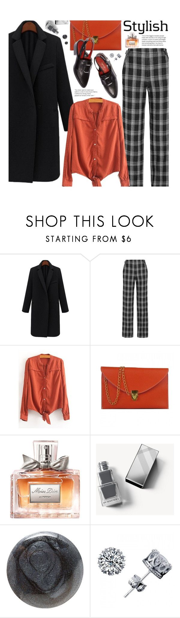 """Street Chic Oversized Coats"" by beebeely-look ❤ liked on Polyvore featuring Proenza Schouler, Christian Dior, Burberry, Christian Louboutin, StreetStyle, plaid, StreetChic, oversizedcoats and twinkledeals"