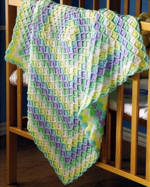 Bavarian stitch Baby Blanket. Not so difficult to do. Check out the tutorials!