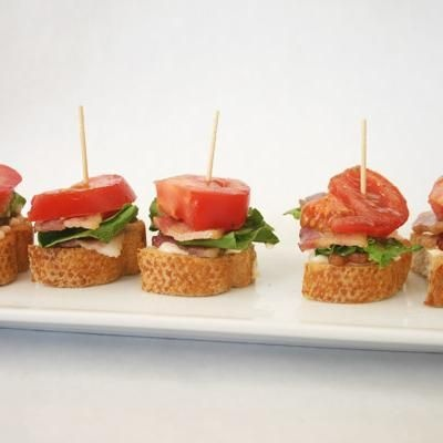 BLT apps...... I am going to make these for book club next month, they look awesome