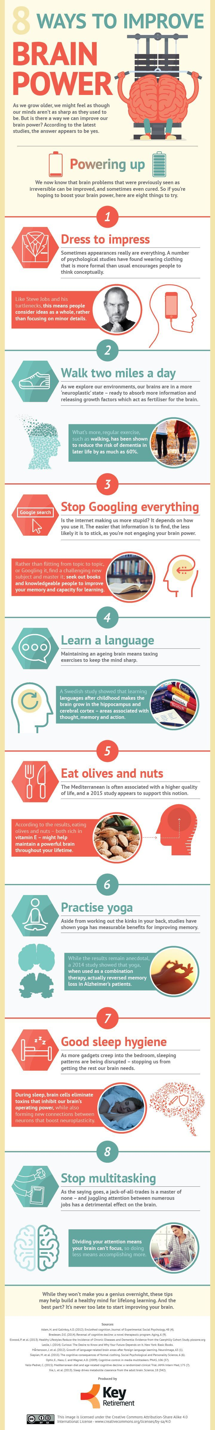 8 Ways To Improve Brain Power #Infographic #Brain #MentalHealth
