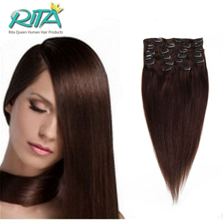 13 best luffywighair clip in hair extension images on pinterest 2016 hot sale dhl free shipping 2 brown clip in remy human hair extensions full head 16 28 rita queen hair products 70 200g price us 3350 free pmusecretfo Choice Image