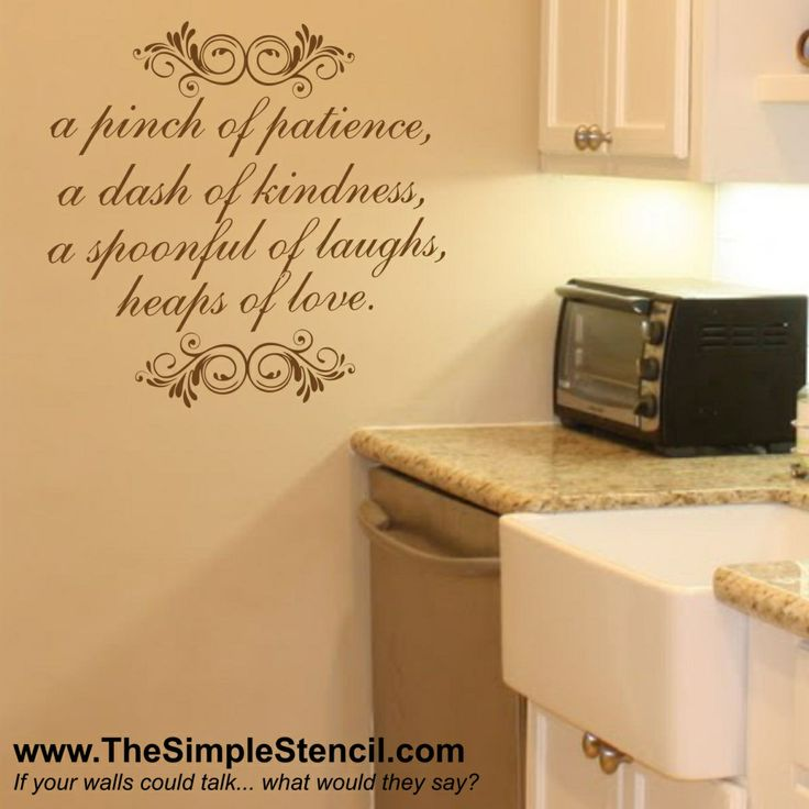 61 best Kitchen Wall Quotes, Lettering, Vinyl Decals and Stencils ...