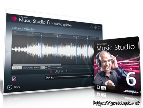 Ashampoo Music Studio 6 Full version license worth $49.95 giveaway