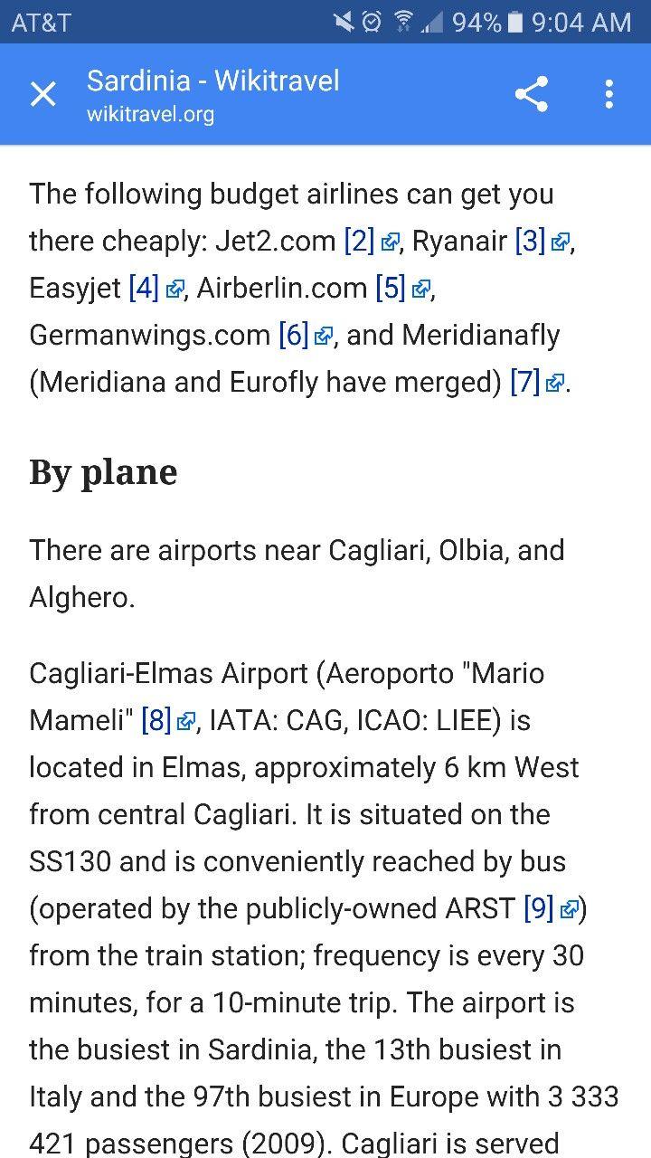 Flights to Sardinia