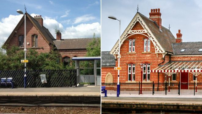 Irlam station before and after
