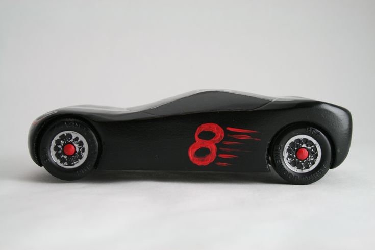 That's a great looking Pinewood Derby Car! - Go 8!