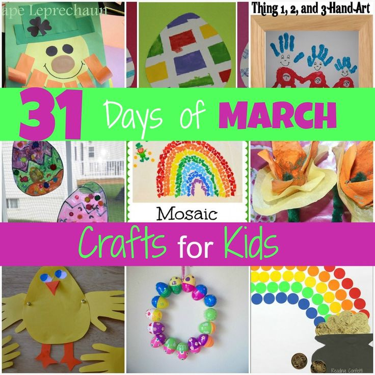31 Days of March Crafts for Kids - so many fun ideas!