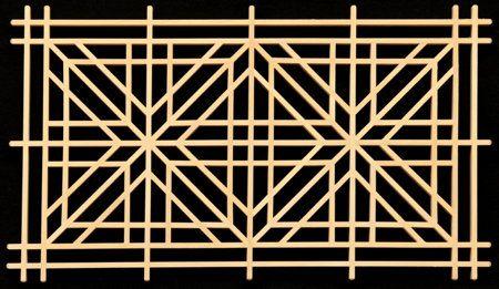 Square goma-gara pattern