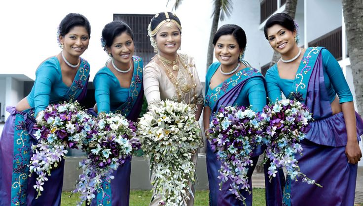 17 best images about wedding bridal party on pinterest for Wedding party dresses in sri lanka