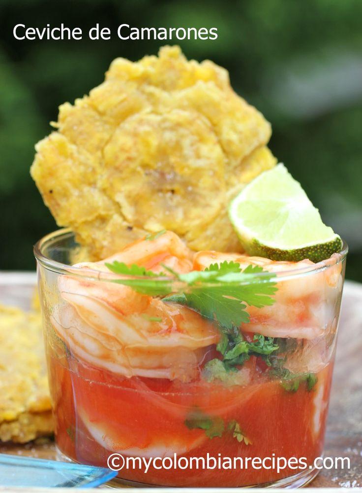 Colombian-Style Shrimp Ceviche (Ceviche de Camarones)|mycolombianrecipes.com