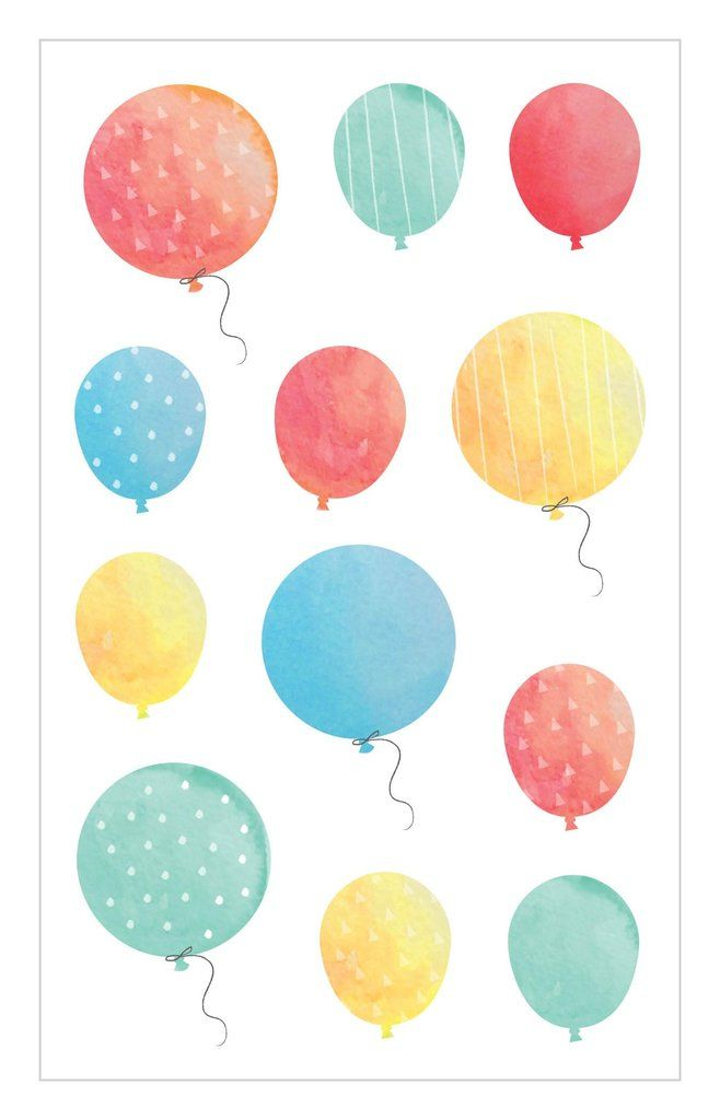 Watercolor Balloons Stickers Watercolor Stickers Balloons
