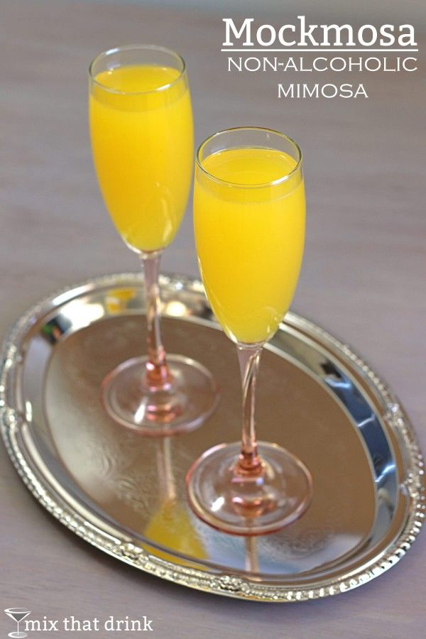 The Mockmosa is a delicious alcohol-free version of the traditional Mimosa. You can serve it alongside Mimosas, or it can be your tipple when you want to socialize with drinkers but not drink yourself.