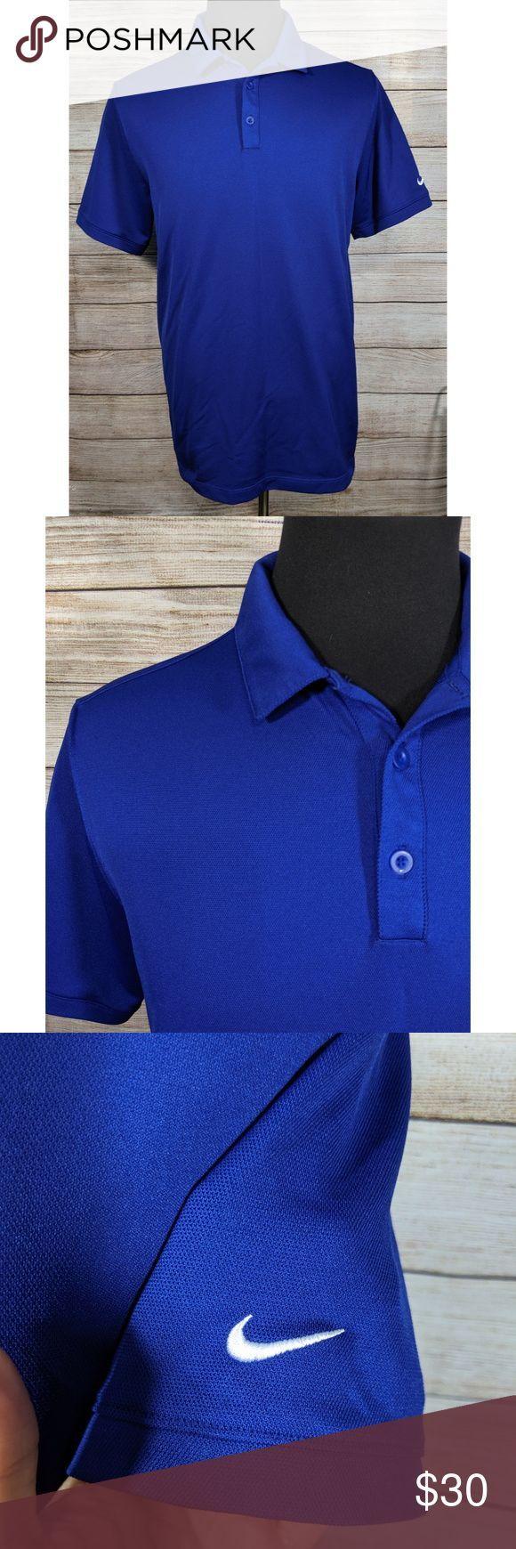 Nike Dri Fit Golf Tour Blue Athletic Polo Shirt XL Nike Dri Fit ...