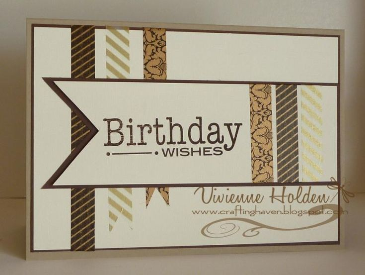 17 Best images about Stamping Ideas Masculine cards – Birthday Cards for Man