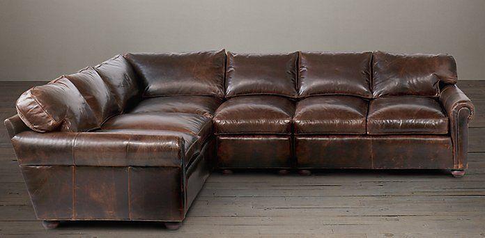 234 best restoration hardware images on pinterest for Sectional sofa redo