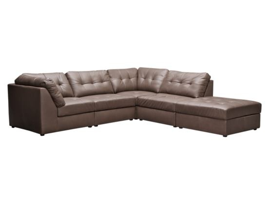 Aventura Grey 5-PC Sectional - Value City Furniture plus extra ottoman. Basement.