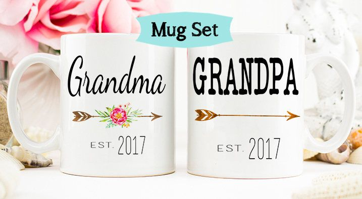 Pregnancy Reveal to Grandparents mug, New Grandparents, Baby Announcement, Grandparent Mug, New Grandparent gift, Grandma mug by WeefersGifts on Etsy