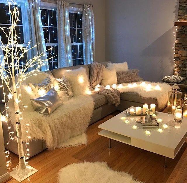 Fairy Lights Living Room Decor Cozy Cozy Living Room Design Cozy Living Rooms