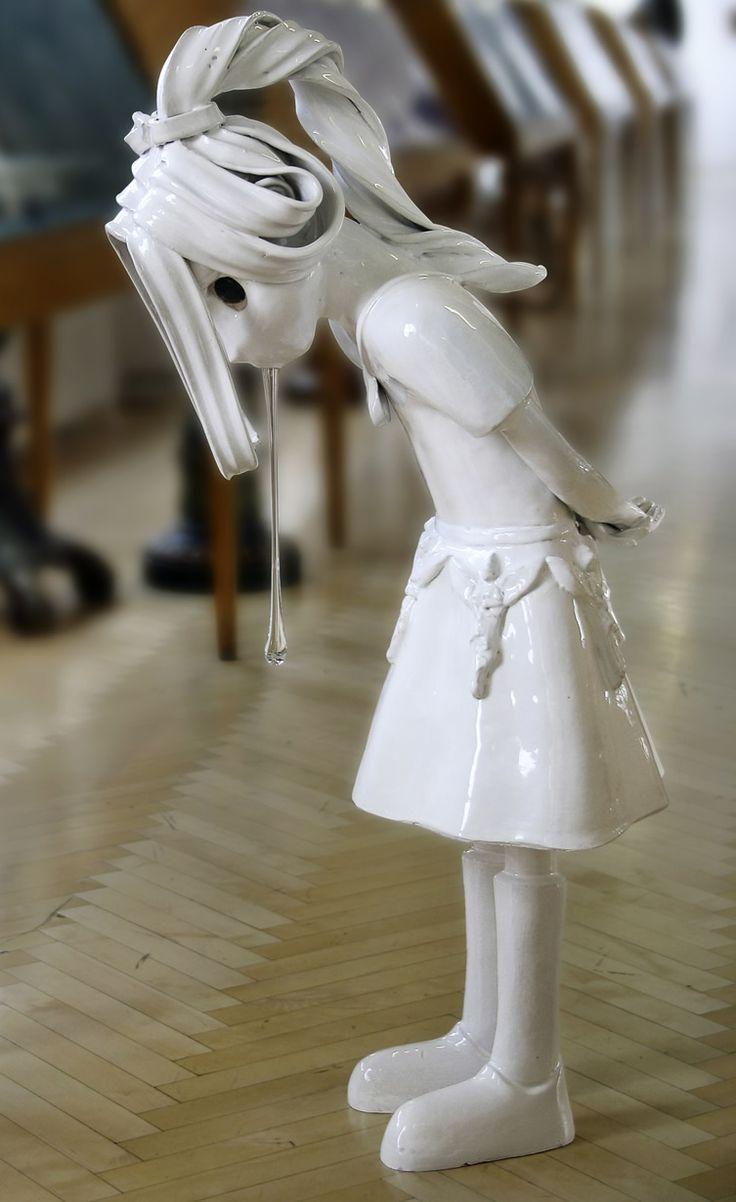 Spitting Girl, 2006, ceramics, glass - Kim Simonsson