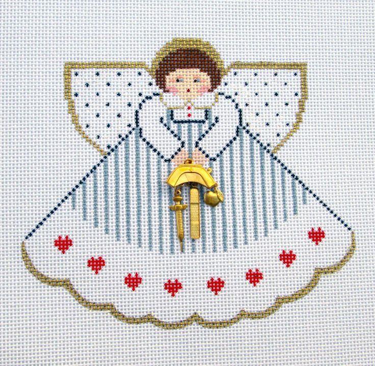 Painted Pony Nurse Angel RN LPN Charms HP Needlepoint Canvas Ornament | eBay