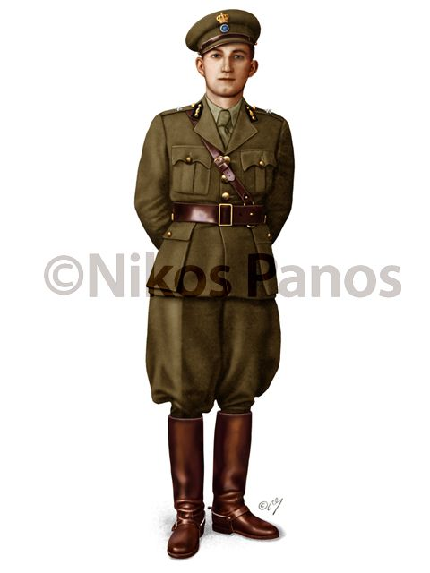 WWII Greek Army reserve officers' service uniform.