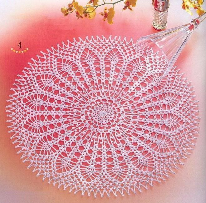 Crochet Art: Crochet Lace Doily Free Pattern - So fine Doily