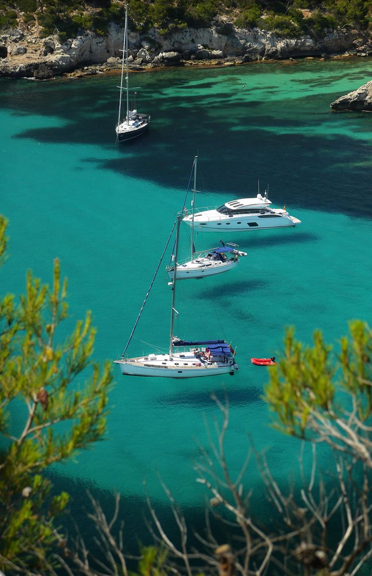 Sailing Menorca, Spain - That water is so very, very clear! http://govillasandcottages.co.uk/