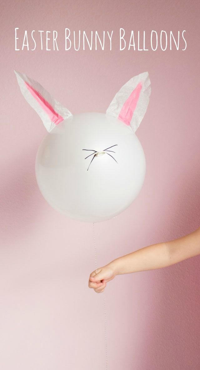 Make these cute DIY Easter Bunny balloons with just coffee filters and a Sharpie!