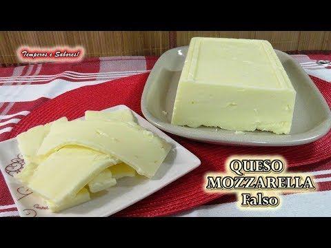 (197) QUESO MOZZARELLA Falso, el queso más fácil de hacer y muy delicioso - YouTube