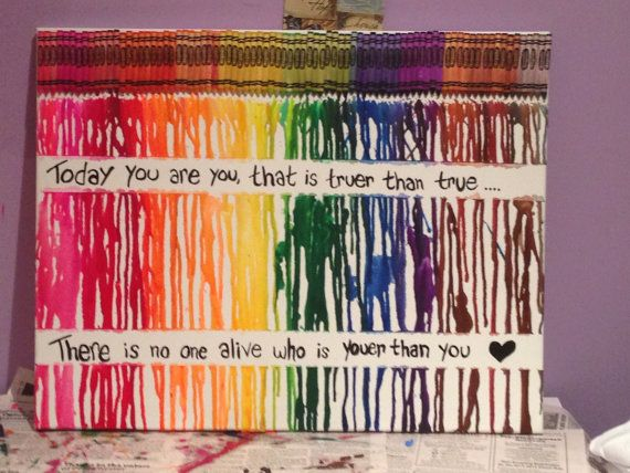 Melted Crayon Art Quote by CaputoCreations on Etsy